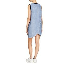 Clu TOO Women's Blue Striped Contrast Dress Size M
